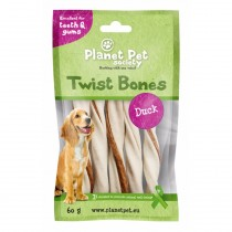 Planet Pet Duck Twist Bones - 60 gram